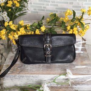 Pristine condition Coach black leather wristlet
